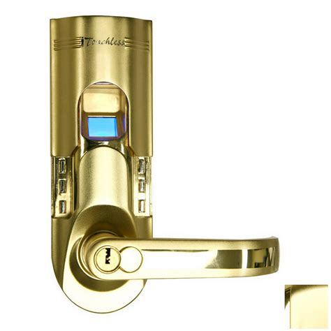 Keypad Front Door Lock Shop Itouchless Gold Electronic Entry Door Deadbolt With Keypad At Lowes