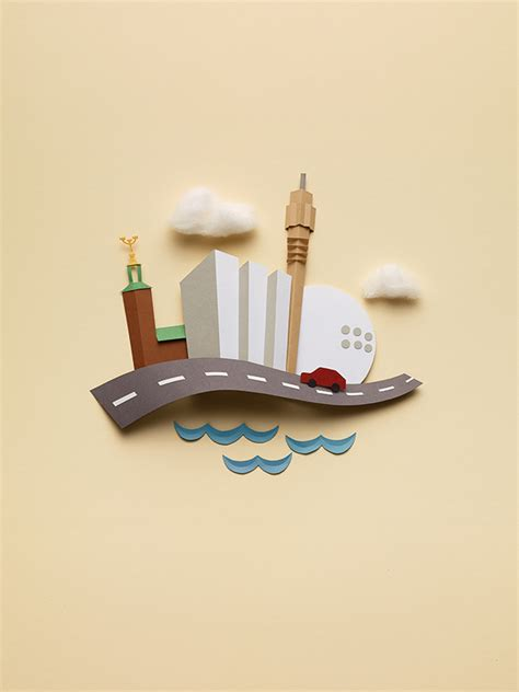 Objects With Paper - paper objects on behance