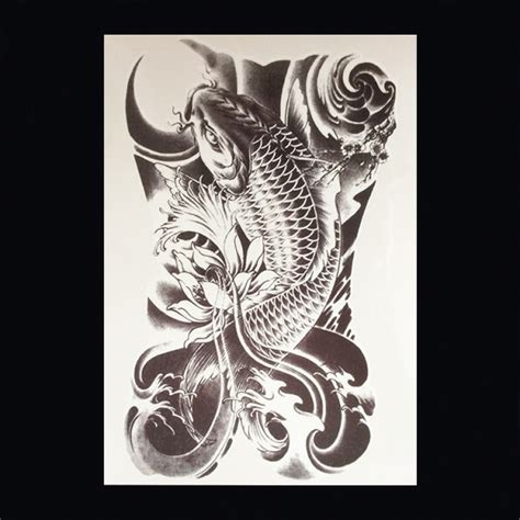 koi karper tattoo onderarm xl tattoos dieren zwart wit faketattoo nl