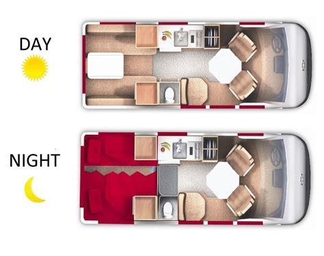 Roadtrek Floor Plans by 19 Deluxe Camper Van 2 Berth Van Owasco Vehicle Information
