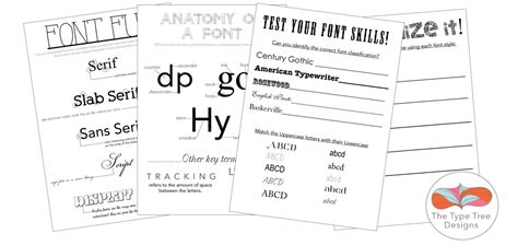 typography worksheet category graphic design lessons the type tree designs