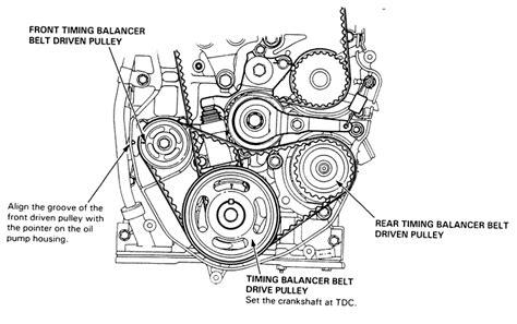 2003 honda accord 4 cylinder timing belt or chain removal and installation of 98 honda accord timing belt 4 cylinder engine