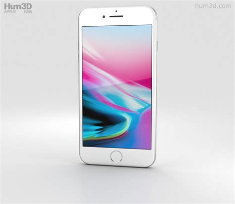 apple iphone 8 plus silver 3d model electronics on hum3d