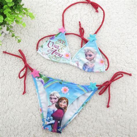 Swimwear Frozen Kode E frozen swimwear suit set 2014 new summer elsa swimsuits for baby