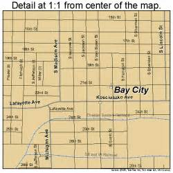 map of bay city bay city michigan map 2606020