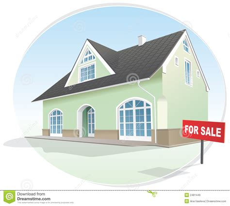 home picture home realty for sale vector royalty free stock images