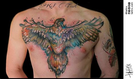watercolor tattoos melbourne kel tait melbourne australia watercolour eagle