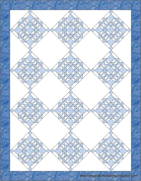 about nancy cathedral window quilt block