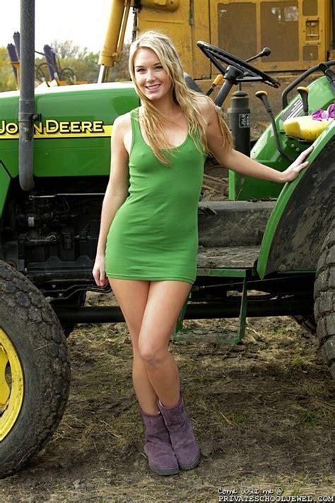 Girls On John Deere Tractors | girl with her john deere girls with tractors pinterest