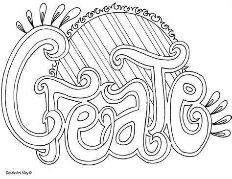 word coloring pages word coloring pages doodle alley