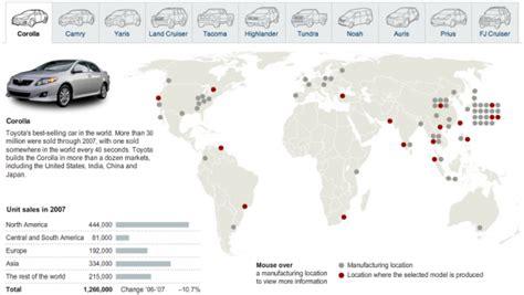 toyota worldwide toyota global presence and recall infographics online