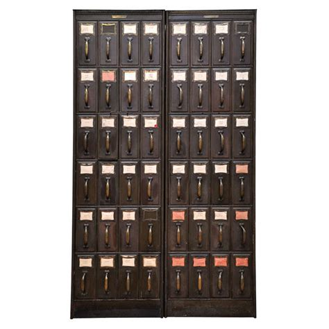 vertical filing cabinets metal pair of american metal vertical file cabinets at 1stdibs