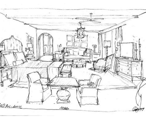 simple but unique home interior design drawings