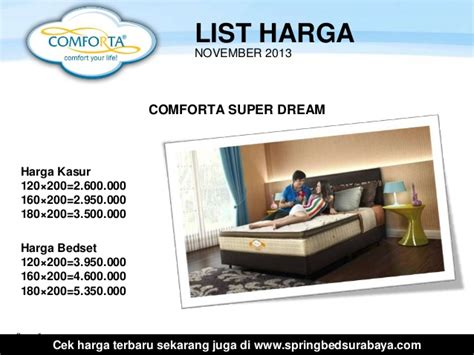 Bed Comforta harga comforta bed