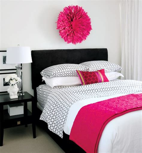 hot pink bedroom decor pink and black bedrooms panda s house