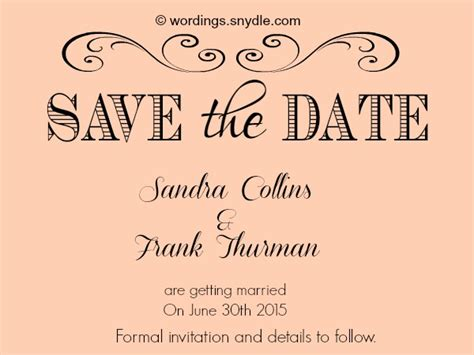 save the date wedding wording exles save the date wording sles wordings and messages