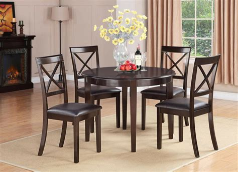 dining table and chairs set 5pc set dinette kitchen dining table with 4 faux