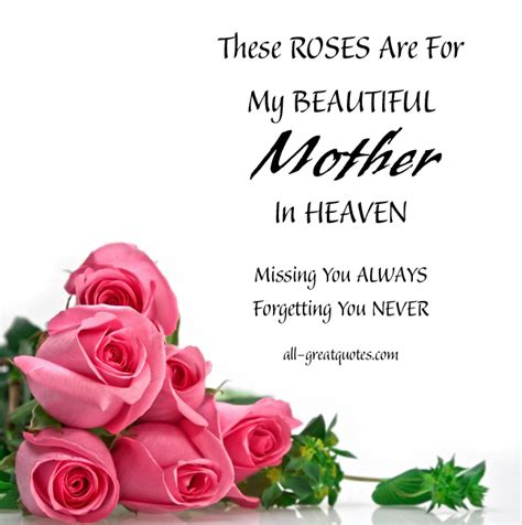 My Mother In Heaven Quotes. QuotesGram