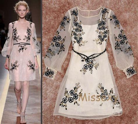 embroidery fashion fashion silk organza sheer dress 2012