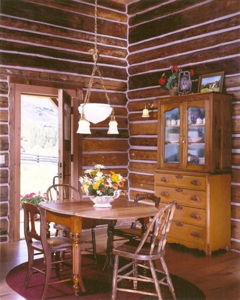 log cabin dining room ranch log cabin rustic dining room other metro by