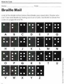 Break Letter History braille mail break the code worksheets lovetoteach org free