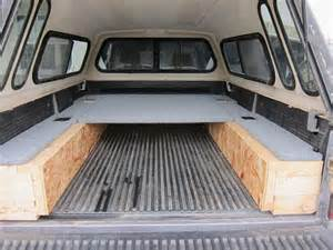 Truck Canopy Bed Ideas Truck Bed Sleeping Platform Travel Vehicles