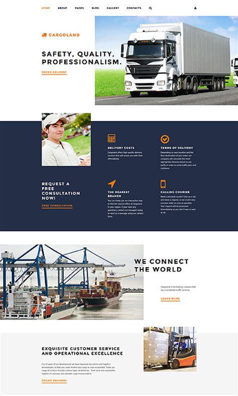 34 Transportation Website Themes Templates Free Premium Templates Free Trucking Website Templates