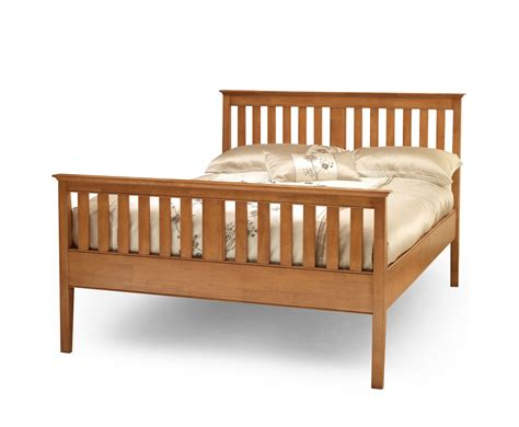 christine small double 4ft cherry high footend bed frame