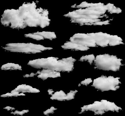 realistic vector clouds  vector    vector  commercial  format ai