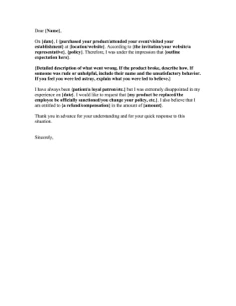 Complaint Letter Unprofessional Coworker Fill In The Blanks Complaint Letter