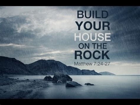 Build Your House On The Rock by Sunday Sermon Summary Building Your House On The Rock