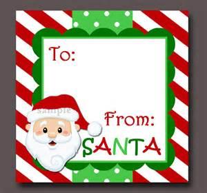 secret santa label template santa gift tags printable instant
