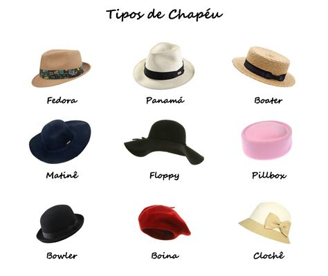 types of hats tipos de chap 233 u types hat in my head pinterest