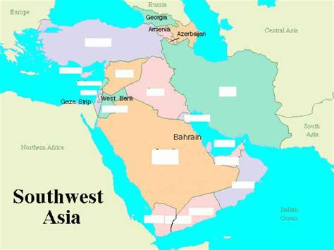 south and west from map south west asia holidaymapq com