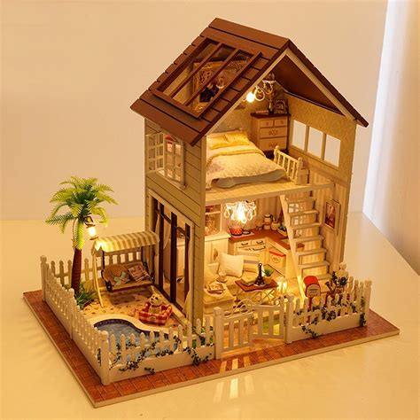 homemade wooden doll houses aliexpress com buy home decoration diy 3d doll house wooden doll houses miniature diy