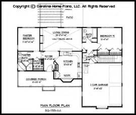Home Design 50 Foot Lot Small Ranch Style House Plan Sg 1199 Sq Ft Affordable