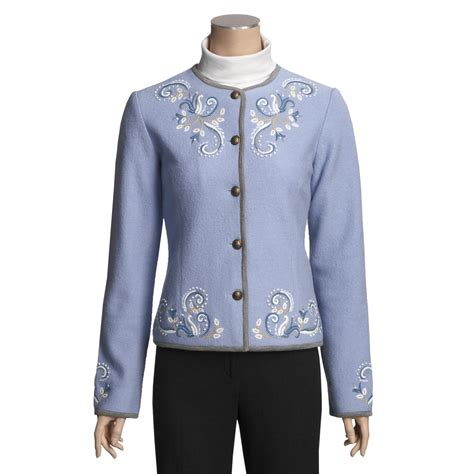 design an embroidered jacket icelandic design natalia boiled wool cardigan jacket for