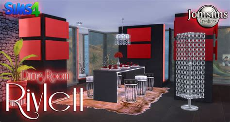 Creations Dining Room by Rivlett Dining Room At Jomsims Creations 187 Sims 4 Updates