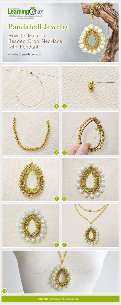 beaded drop necklace jewelry tutorials tips