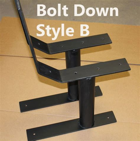 metal deck bench brackets heavy duty commercial style park bench metal post