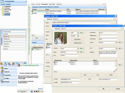 databases tools a z contacts manager shareware multi