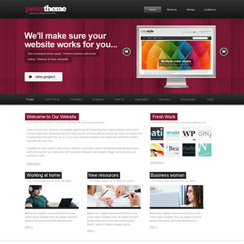 html themes with css showbiz html template web blog corporate css