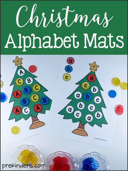 printable alphabet christmas alphabet christmas tree mats printables in uppercase