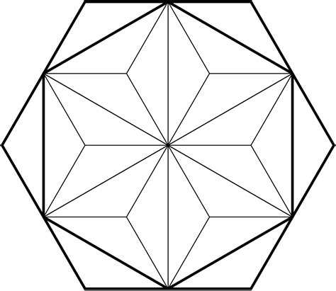 geometry the fraction of the larger hexagon that is