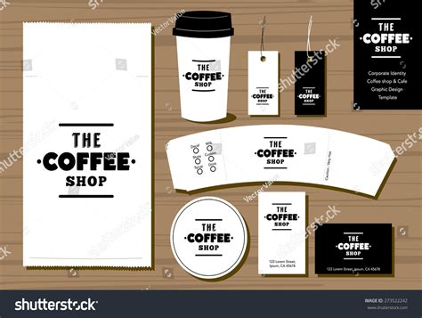 coffee shop sign design coffee shop cafe logo design identity stock vector