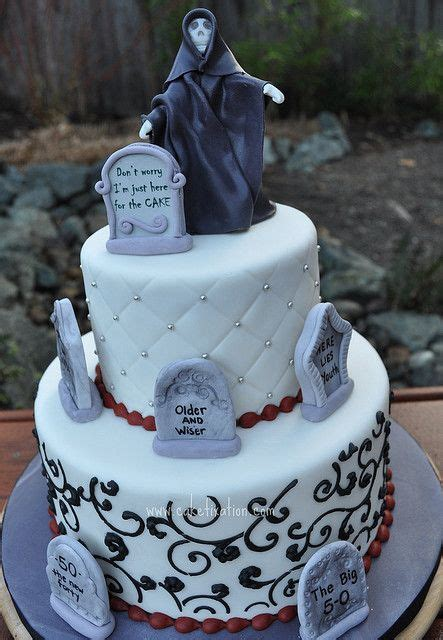 overthehillcakesayings grim reaper cake    hill cake    birthday party