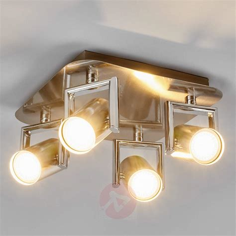 Spot Lighting For Kitchens Nickel Luciana Led Kitchen Spotlight 4 Fl Lights Co Uk