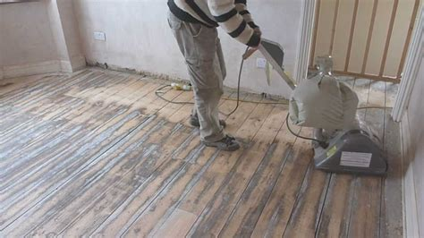 How To Sand A Hardwood Floor by How To Sand Wooden Floor Boards Part 1
