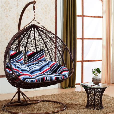 basket swing chair basket wicker chair swing rattan leisure double hammock