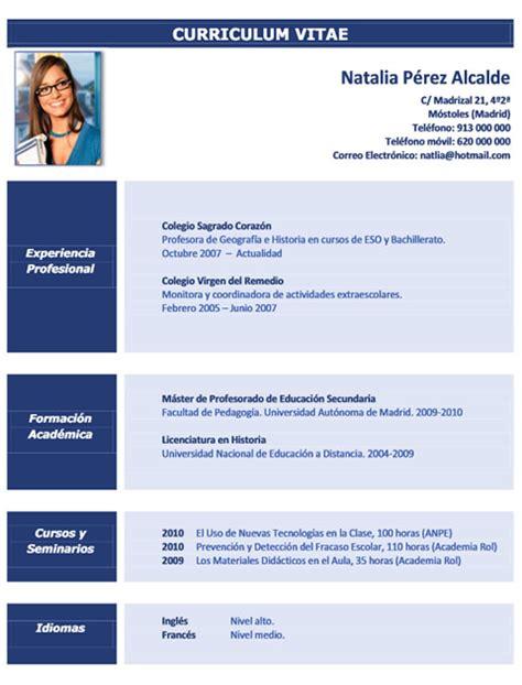 Plantilla De Curriculum Vitae De Profesores Curriculum Profesor 21 Cvexpres